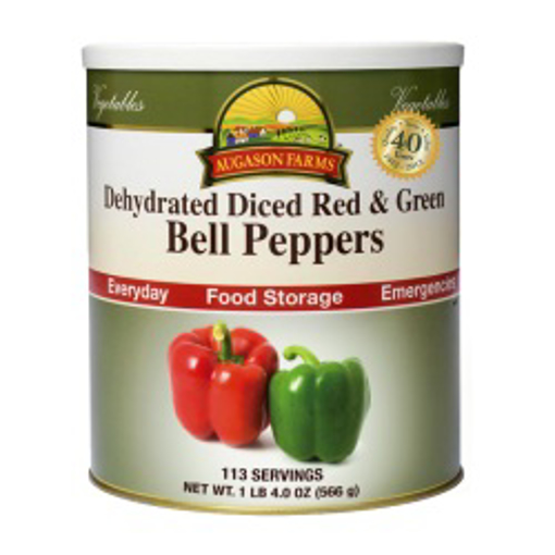 Picture of Red & Green Bell Peppers ~ Dehydrated & Diced