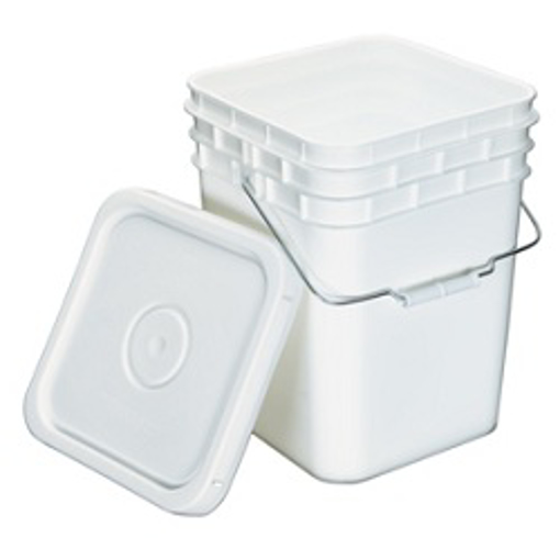Picture of 4 GALLON SQUARE PAIL WITH LID