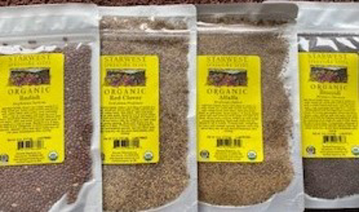 Picture of Sprouting Seeds 1/4 pound packets ~ Organic - One of each